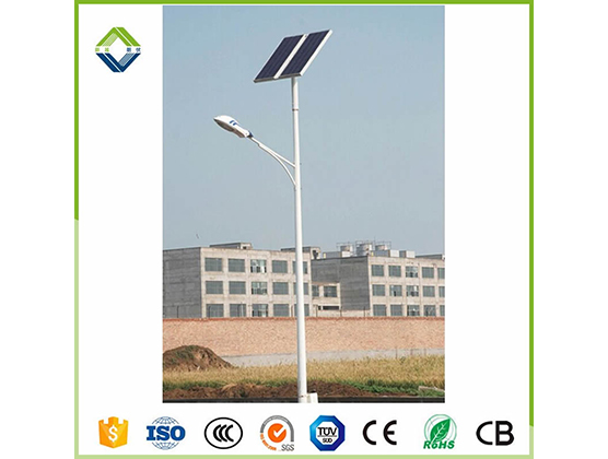 9m 80w solar street light with lithium battery