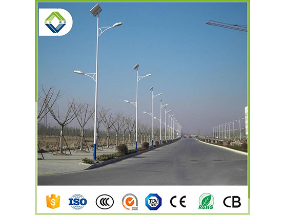 60w*2pcs double arms solar street light with lithium battery