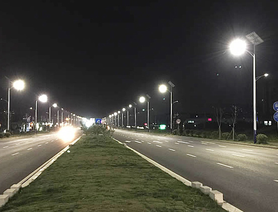 China 104 National Road solar street light project